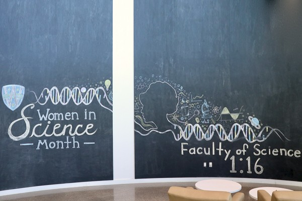 chalking of Women in Science