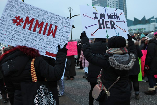 Windsor Law students attended the cross-border Women's March in Windsor on Thursday, Jan. 17.