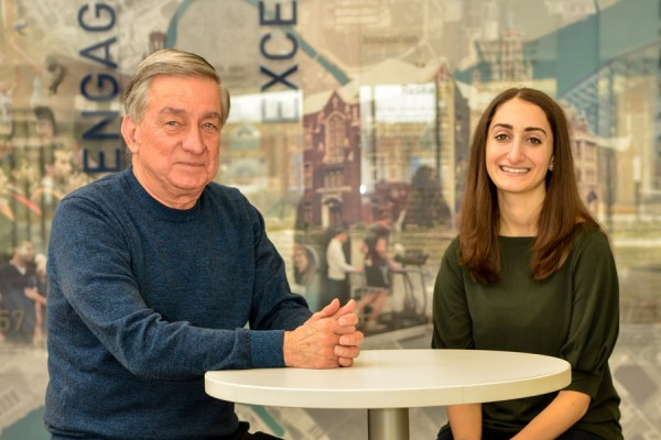 Roger Lauzon, Jordyn Liebman who were featued in a DailyNews article about the WURA Scholarship.