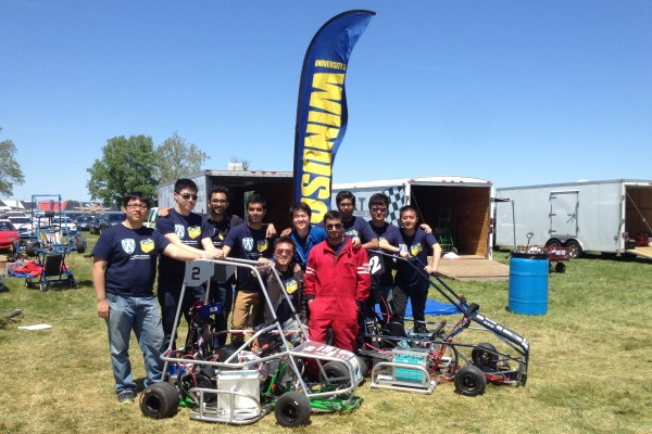 The Windsor Engineering team raced two vehicles at the Electric Vehicle Grand Prix, hosted by Purdue University at the Indianapolis Motor Speedway, taking both fourth and ninth places.