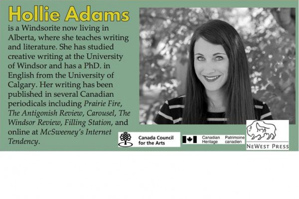 UWindsor creative writing alumna Hollie Adams launches her novel, Things You've Inherited From Your Mother.