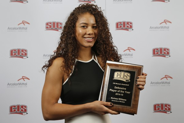 Lancer Women's Basketball star Korissa Williams named this week among eight finalists for the 23rd annual BLG Award as CIS Female Athlete of the Year.