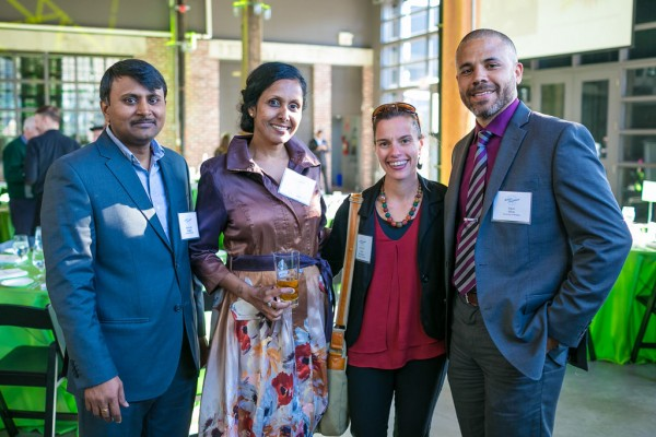The University of Windsor's Subba Rao Chaganti, Charu Chandrasekera, Cheri McGowan and Kevin Milne attend the Royal Canadian Institute for Science's 2018 Science Exchange Dinner on May 8, 2018.
