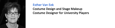 Esther Van Eek. Costume Design and Stage Makeup