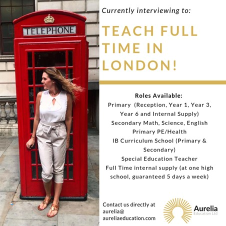 Teach Full-time in London, England