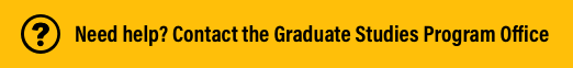 Need Help? Click this button to contact the Faculty of Education Graduate Program Office