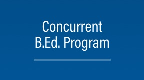 Concurrent B.Ed. Program