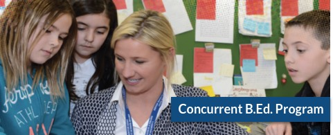 Concurrent B.Ed. Program Banner