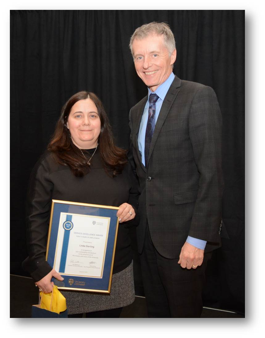 First 5 Years of Employment award recipient Linda Sterling