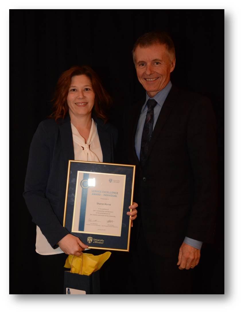 Service Excellence Award recipient Sharon Horne