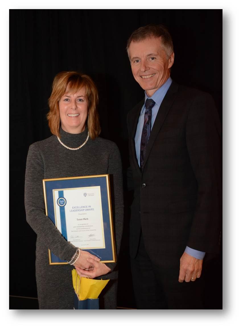 Excellence in Leadership Award recipient Susan Mark