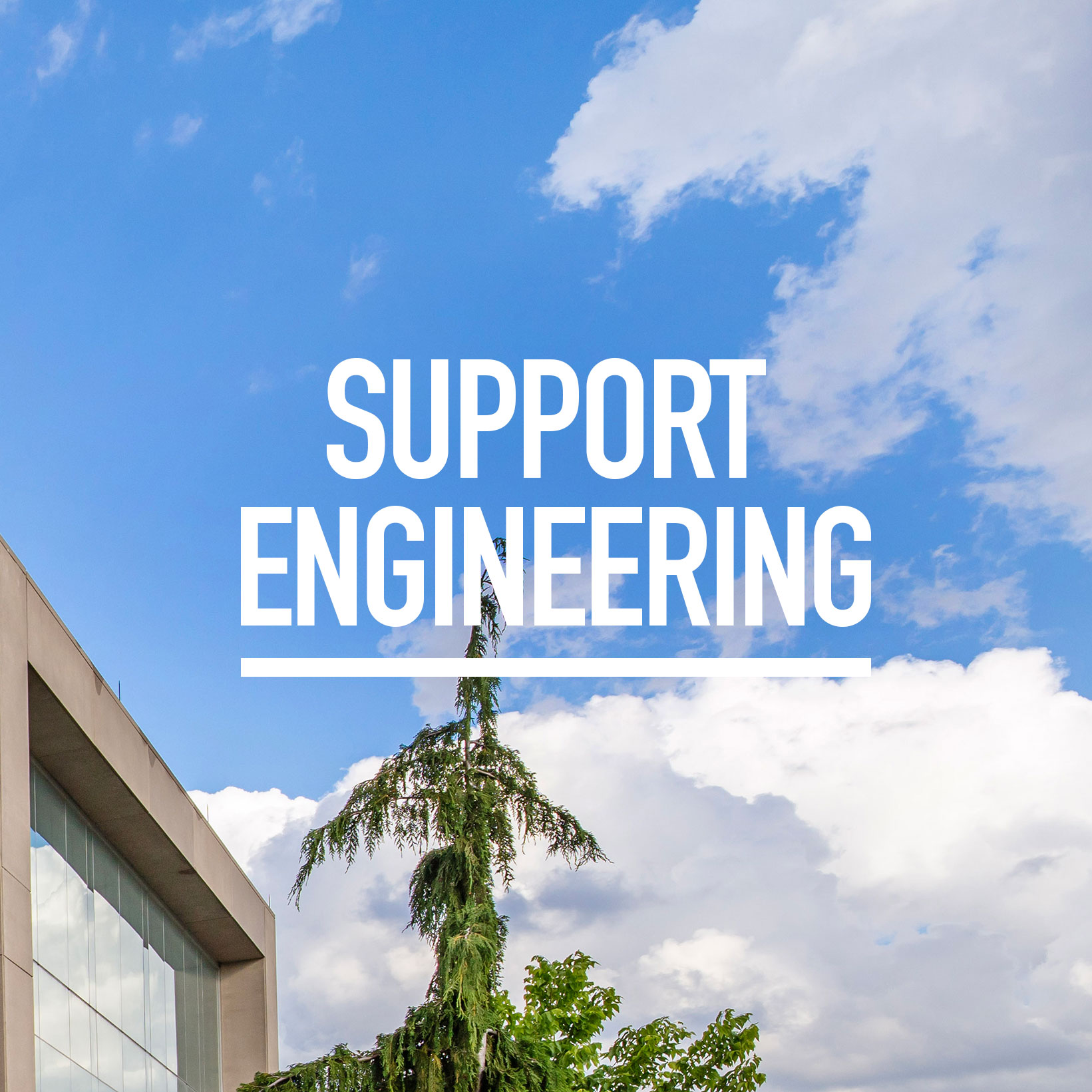 Ed Lumley Centre for Engineering Innovation with words Support Engineering