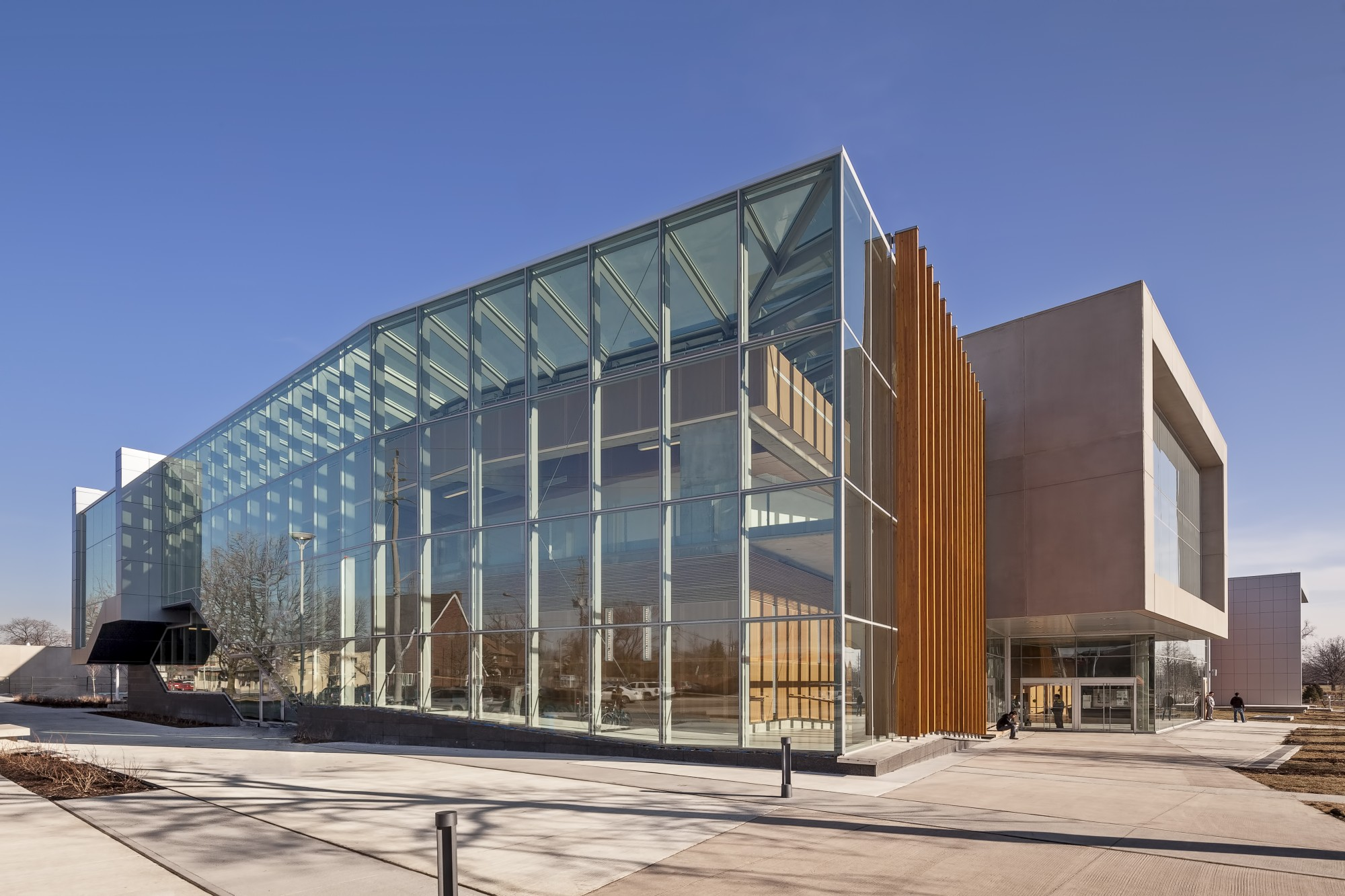Exterior photo of the Ed Lumley Centre for Engineering Innovation.