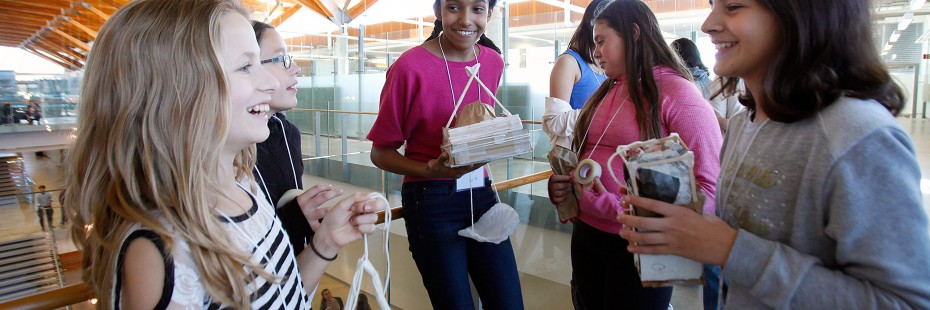 Participants in the 2016 Go ENG Girl event at the Ed Lumley Centre for Engineering Innovation.