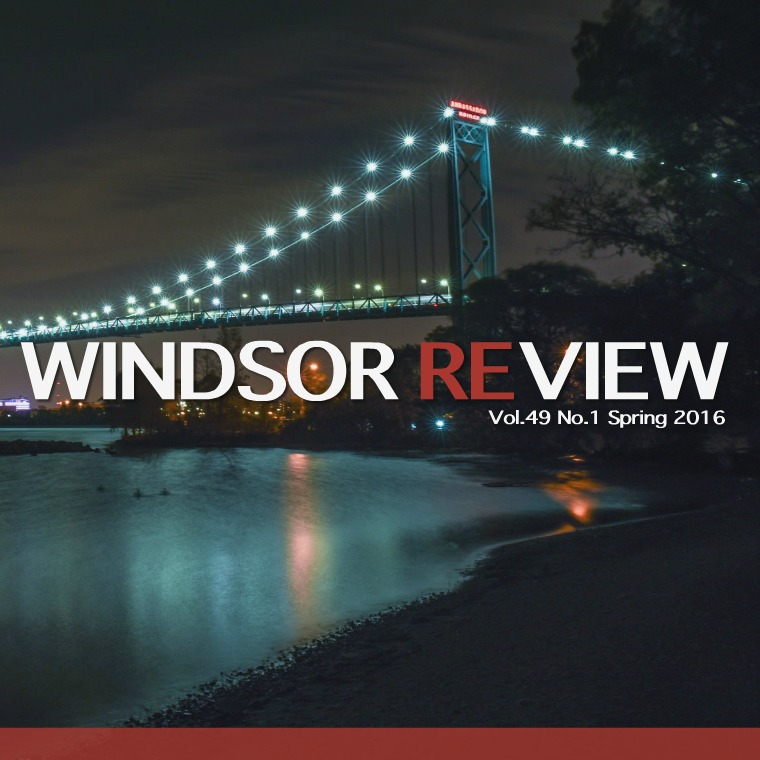 Windsor Review Spring 2016 Cover