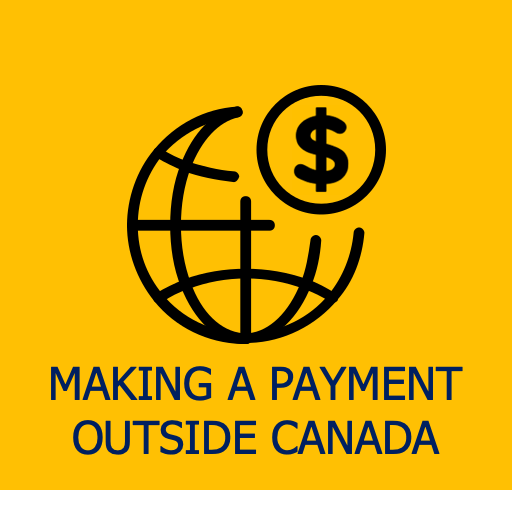 make payment outside Canada