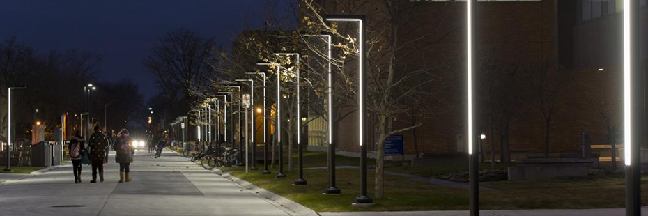 University of Windsor Campus at Night