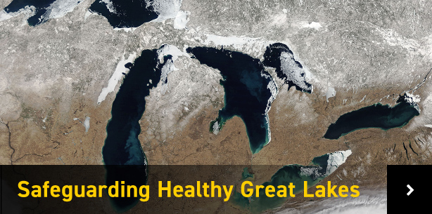 Satellite image of Great Lakes region
