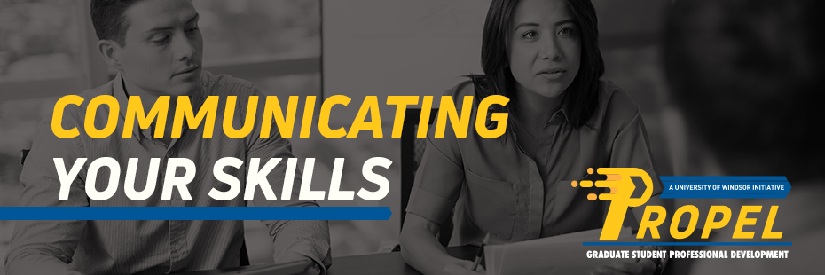 Communicating Your Skills Header