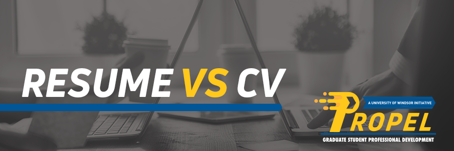 Resume Vs. CV Header