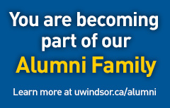 Promotional link to Alumni Website