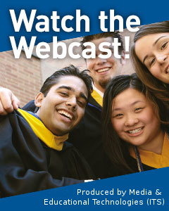 Promotional link to the Convocation Webcast