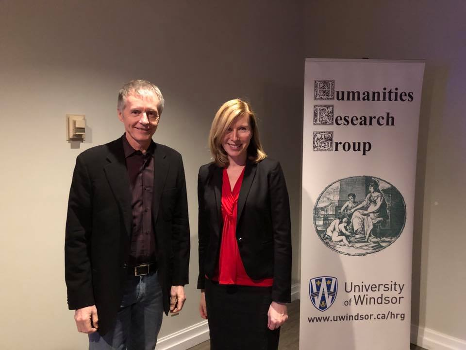 Dr. Alan Wildeman with faculty guest speaker Dr. Cheryl Collier, political science