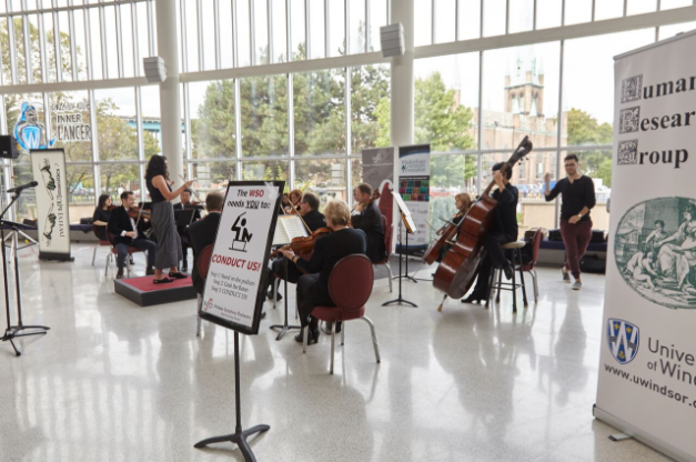 "Windsor Symphony strings perform in CAW Centre at ""Conduct Us"""