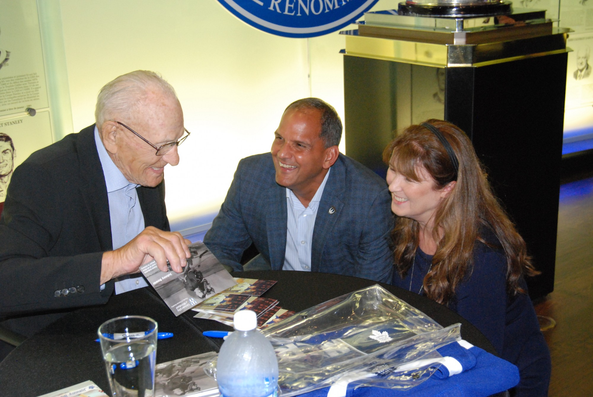 Dean Khan with Johnny Bower