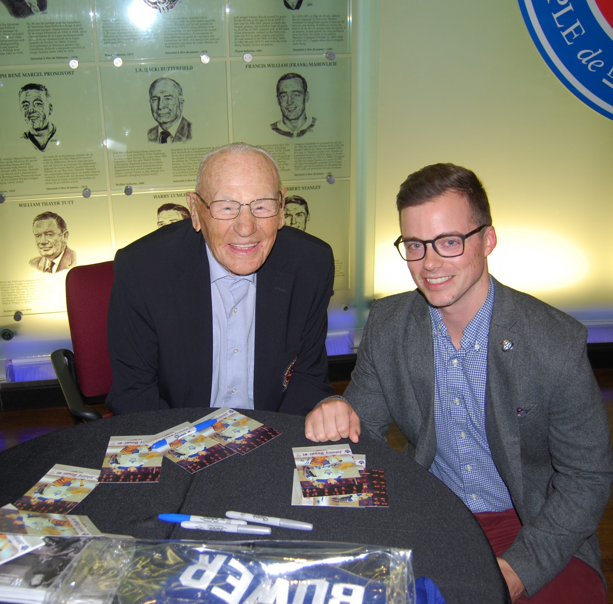 Peter Baldwin with Johnny Bower