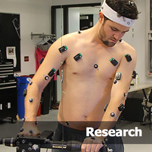 Kinesiology student in the research lab