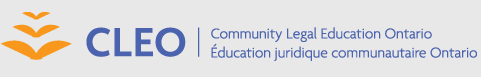 CLEO Community Legal Education Ontario logo