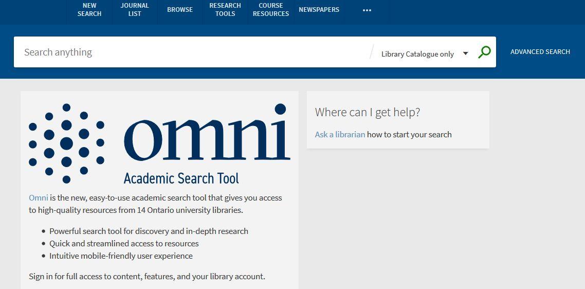 Omni Search Home Screen