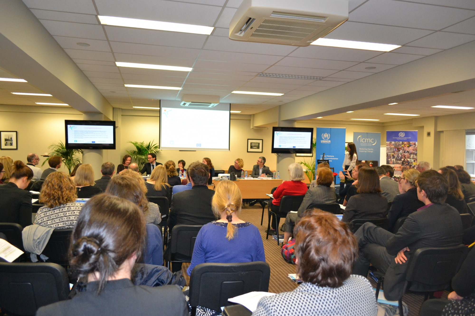 European Resettlement Network Conference on Complementary Pathways to Protection in Brussels April 12, 2018.