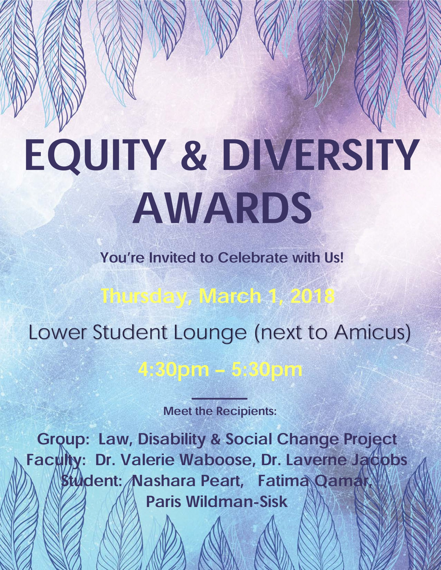Equity and Diversity Award Poster