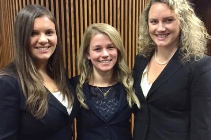 Dual JD Moot Team: Amanda Iarusso, Kourtney Pratt and Allison Krueger