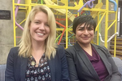 Professors Kristen Thomasen and Vasanthi Venkatesh