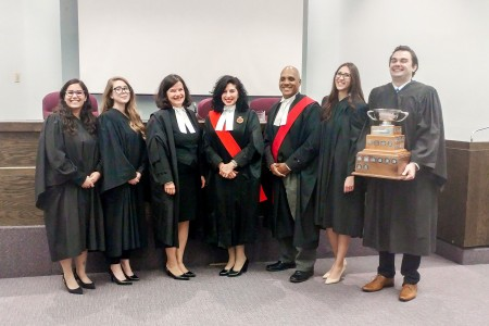 Judges and finalists at the 44th Annual Zuber Moot