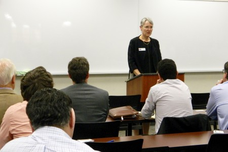 Detroit Mercy Law Dean Phyllis L. Crocker Welcomes George W. Bush Institute Visitors
