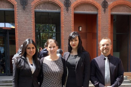 Anjali Rajan, Prof Sara Wharton, Caroline Stacey, and Shane Miles at the ICC Moot in The Hague