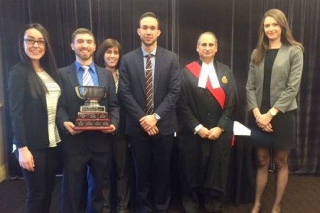 2017 OTLA Cup Presented to Windsor Law Students