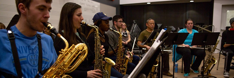 SoCA Honour Jazz Ensemble rehearsing in the Rehearsal Hall