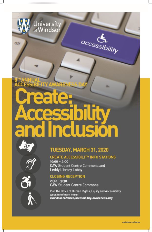 Accessibility Awareness Day Poster 2020