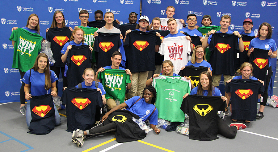Winners of the Team Spirit Award 2017 posing with BBBranded shirts.
