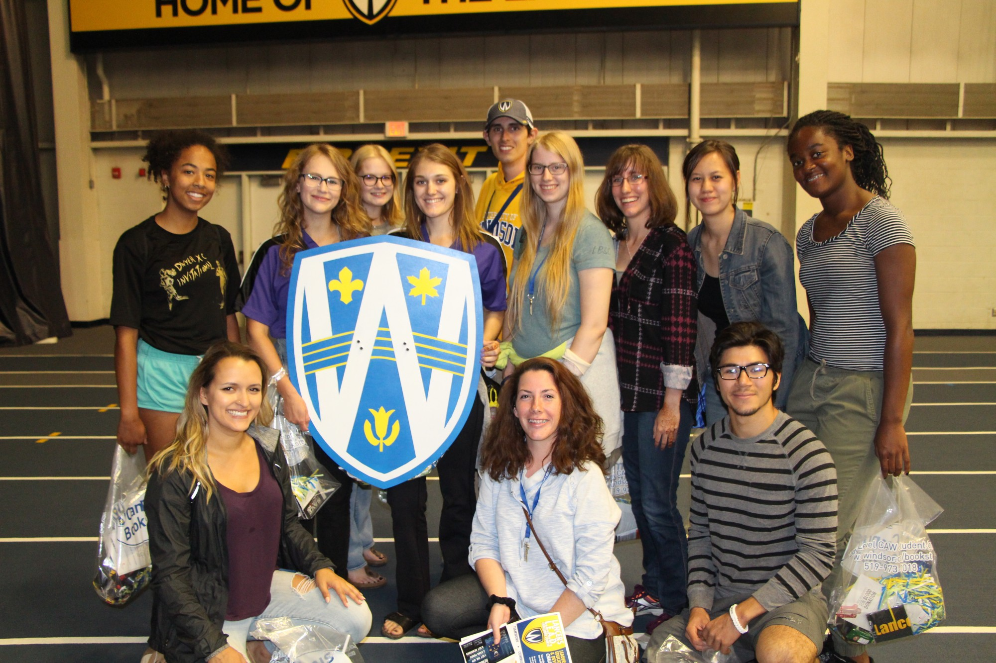 Winners of Battle of the Faculties 2017 posing with Lancer Shield.