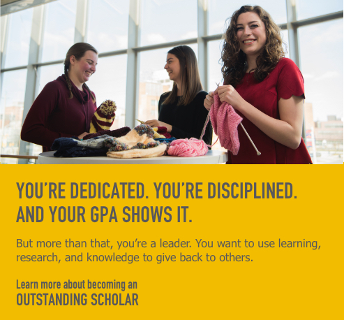 Learn more about becoming an Outstanding Scholar
