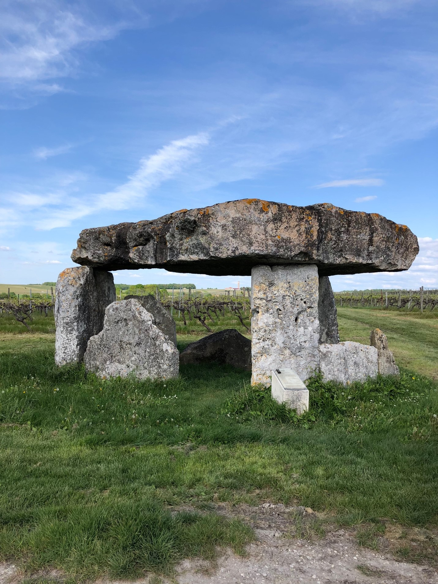 Rocks similar to Stonehenge in field