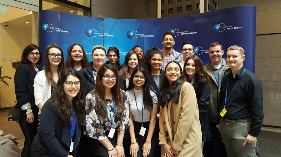 2019 EU Study Abroad Participants at the EEAS in Brussels, Belgium