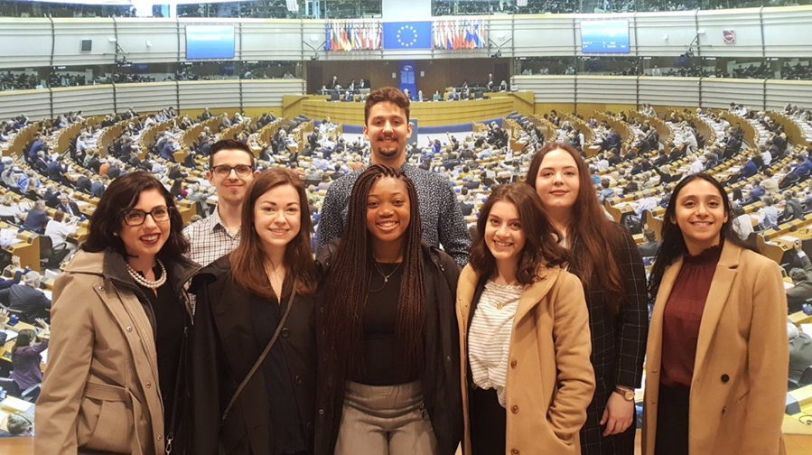 2019 EU Study Abroad Participants at the European Parliament