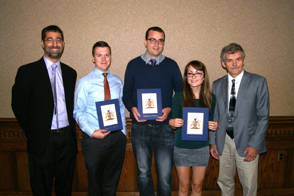 Dr. JOhn Sutcliffe with some scholarship winners